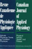 Canadian Journal of Applied Physiology, December 2003